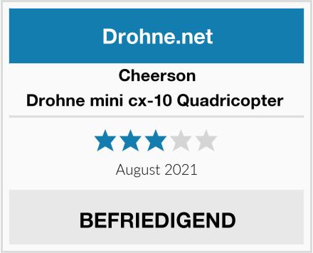 Cheerson Drohne mini cx-10 Quadricopter  Test