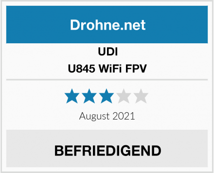 UDI U845 WiFi FPV Test