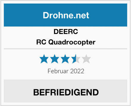 DEERC RC Quadrocopter Test