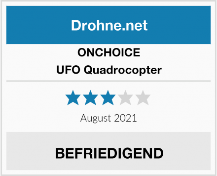 ONCHOICE UFO Quadrocopter Test